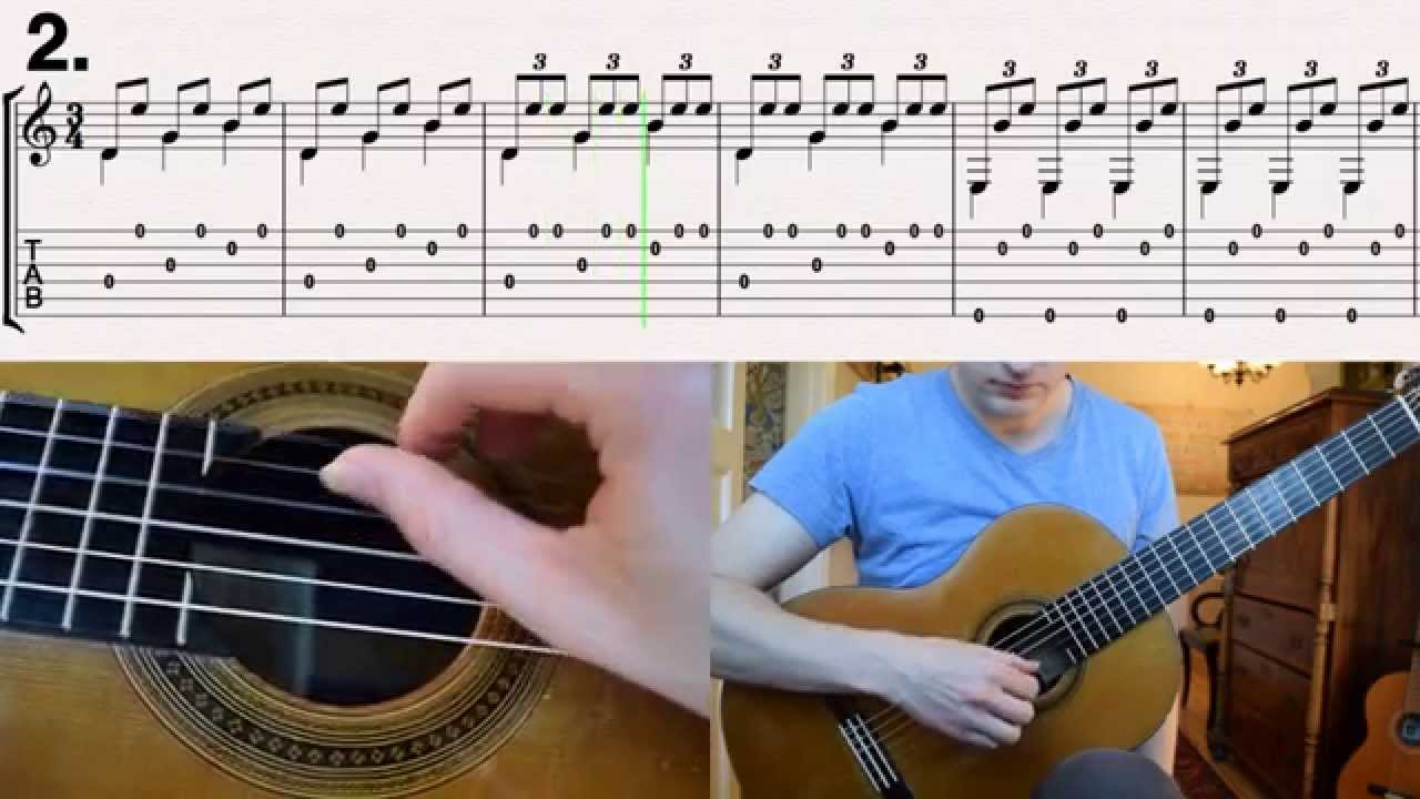 Malaguena - Spanish Classical Guitar Lesson (How to play with tabs)