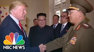 president donald trump salutes north korean general in state media footage nbc news