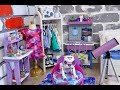 Baby Doll Galaxy Bedroom! Play American Girl Dolls Room & Dollhouse Toys