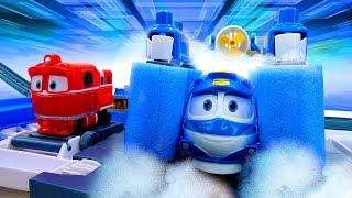 Роботы Поезда чинят железную дорогу - Мультики про игрушки машинки