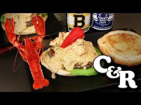Lobster Newburg Angus Burgers 🦀 🐄  Cook & Review • Recipe