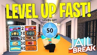 FASTEST WAY TO LEVEL UP AS A COP IN JAILBREAK! (Roblox)