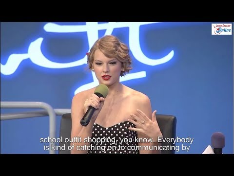 Learn English with Taylor Swift Talk Show - English Subtitle