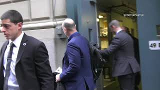 Jeff Bezos, the Amazon CEO outside The Yale Club in NYC