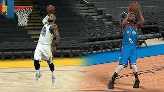 What If Lebron James Went To The Warriors Instead Of Kevin Durant? NBA 2K17 Gameplay!