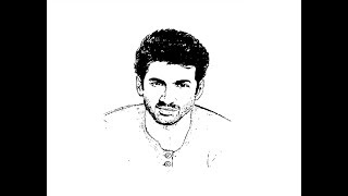 How to Draw Aditya Roy kapoor face pencil drawing step by step