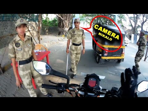 Stopped by Mumbai police riding Ktm duke 200  See what I DID  Asking Me to Remove Helmet camera