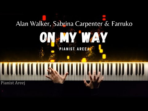 on-my-way---alan-walker,-sabrina-carpenter-&-farruko-piano-cover-+-tutorial-by-pianist-areej