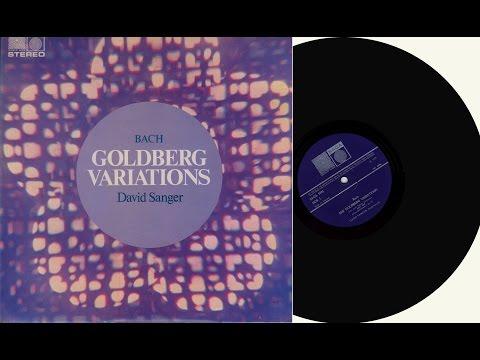 David Sanger (harpsichord)  Johann Sebastian Bach BWV988  Goldberg Variations