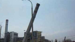 detonacja komina elektrowni