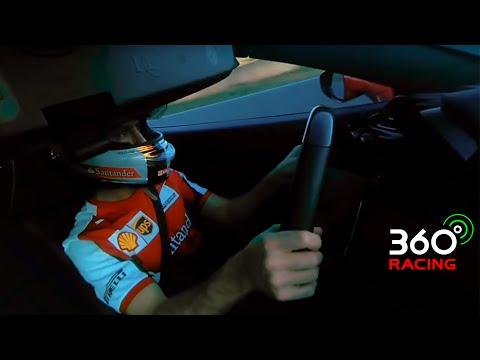 360 Video: Sebastian Vettel drives a Ferrari