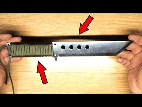ХИТРЫЙ нож для ВЫЖИВАНИЯ и нож для БУШКРАФТА. Survival knife and bushcraft knife.