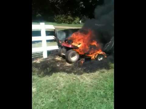 Lawn Mower Fire