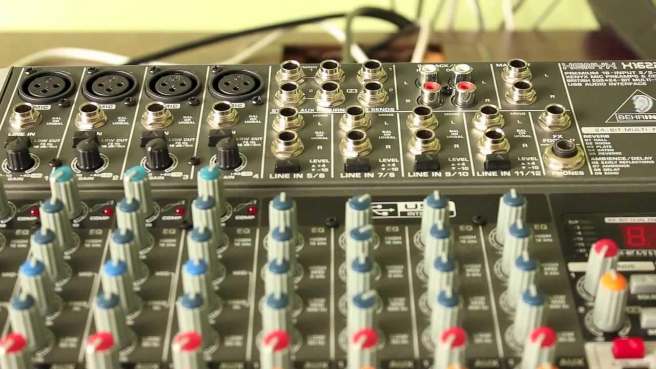 Behringer mesa de som xenyx x1222usb youtube.