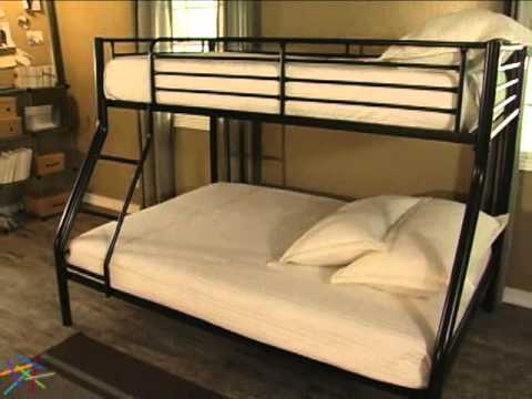 Duro Wesley Twin Over Full Bunk Bed Black Product Review Video