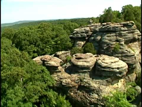 Garden Of The Gods Illinois Shawnee National Forest Illinois Youtube