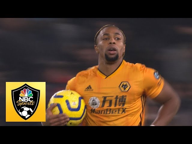 Adama Traore halves Wolves deficit v. Man City | Premier League | NBC Sports