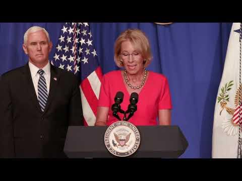 Secretary DeVos Full Remarks at the White House Coronavirus Task Force Event