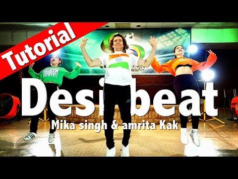 Desi Beat Tutorial  L Mika Singh & Amrita Kak L Chakaboom Fitness Choreography L Coreografia
