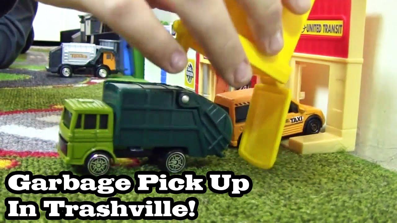 Garbage Truck Videos For Children Pick Up In Trashville