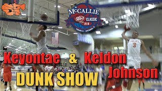 Keldon & Keyontae Johnson put on a DUNK SHOW at the Dr Pepper …