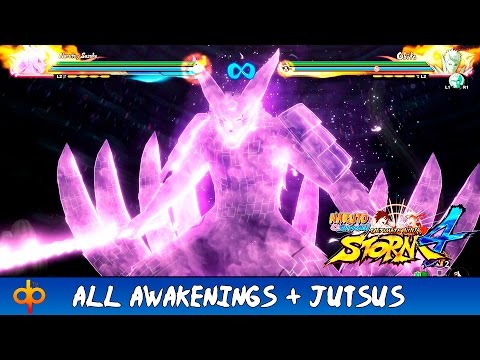 Naruto Shippuden Ultimate Ninja Storm 4 - All Awakenings + Jutsu Moveset   All Characters (Jap dub)