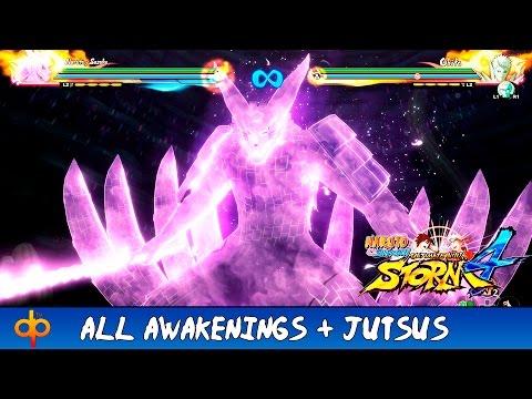 Naruto Shippuden Ultimate Ninja Storm 4 - All Awakenings + Jutsu Moveset | All Characters (Jap dub)