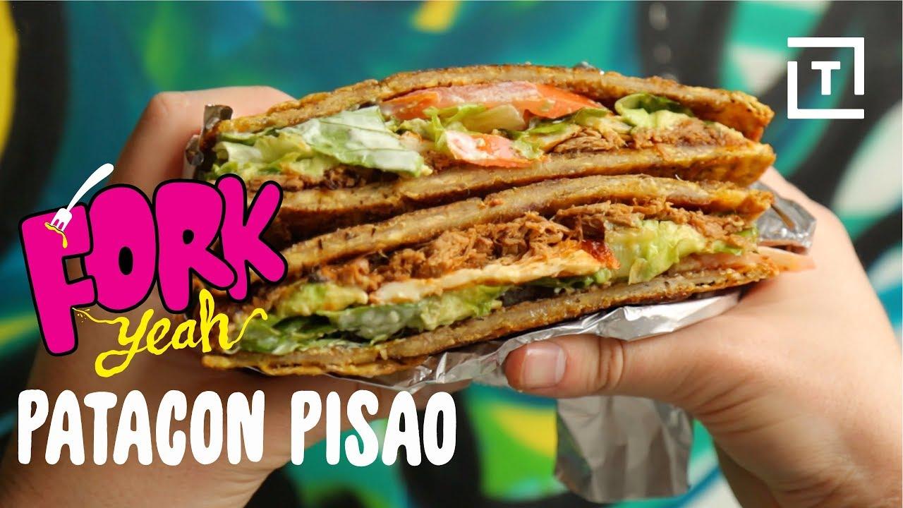 Patacon Pisao S Deep Fried Plantain Sandwich Fork Yeah