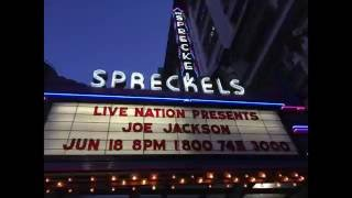 JOE JACKSON live 6/18/2016 San Diego 3/7: A Little Kiss,Poor Thing, Love at First Light
