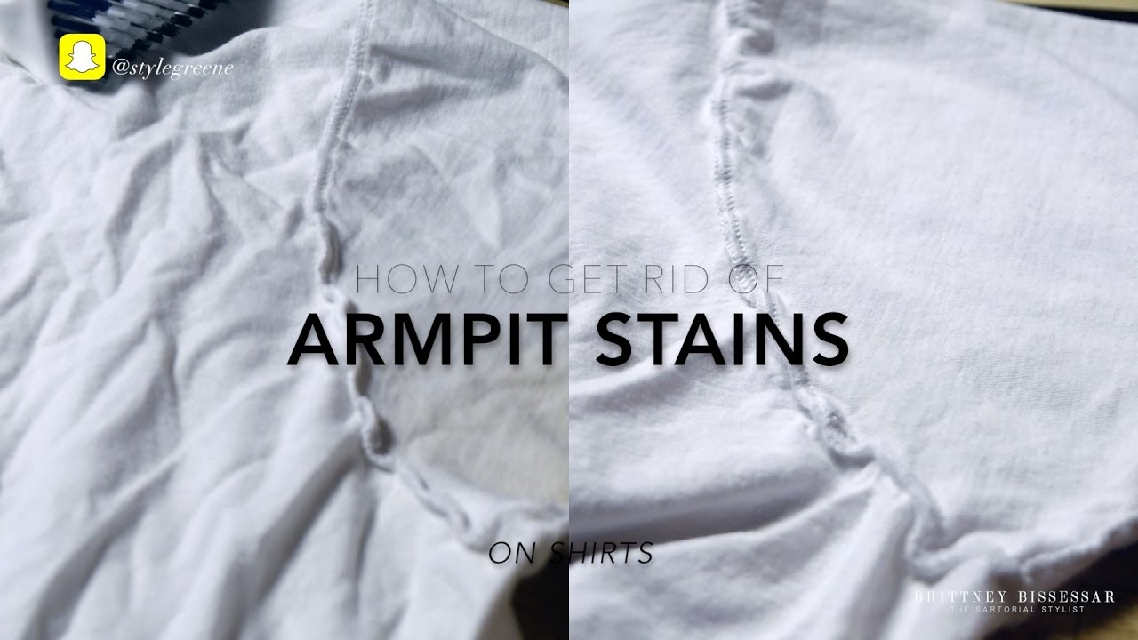 Excessive sweat how to get rid of armpit stains on for Sweat stains on shirt