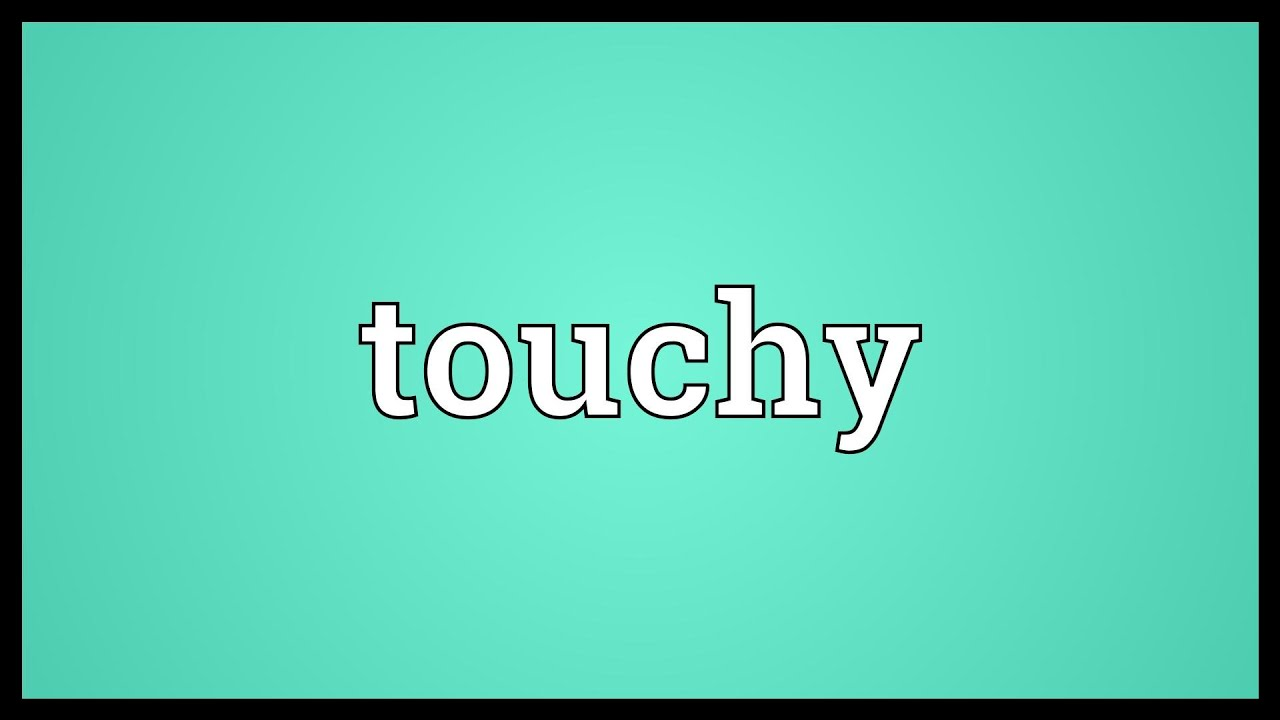 What is the meaning of touchy