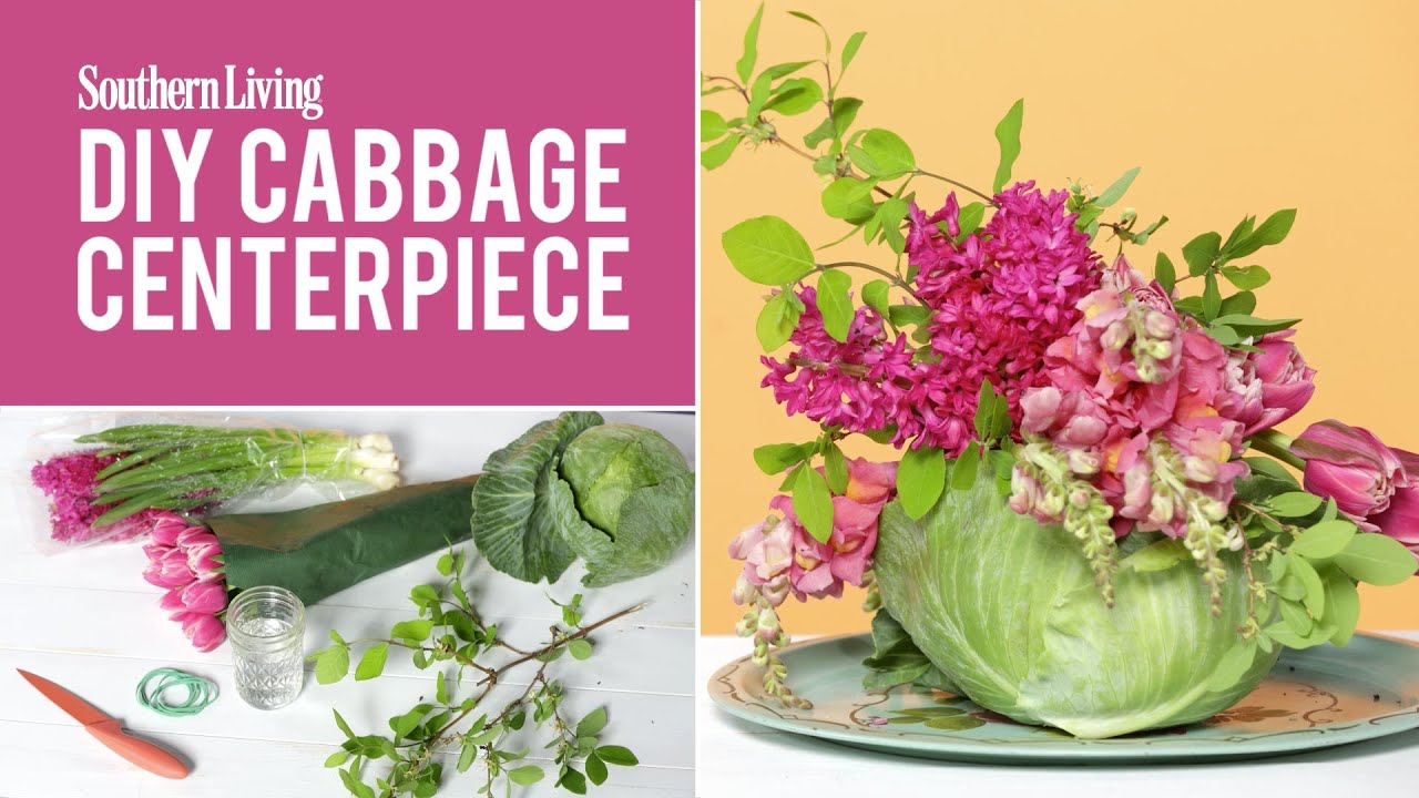 Dining Room Centerpiece Ideas How To Make A Floral Cabbage Centerpiece Youtube