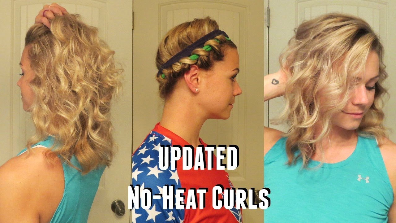 ways to style short hair without heat updated no heat curls 1338 | maxresdefault
