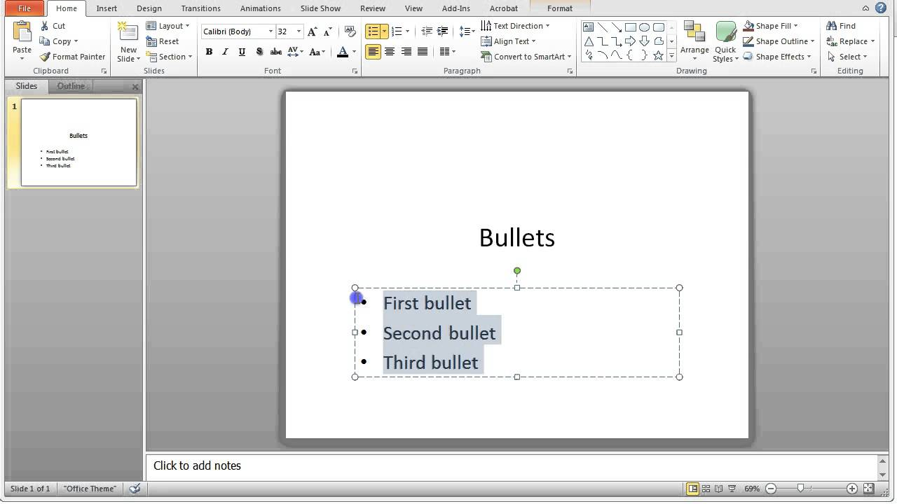 How to add animated bullet points line by line in powerpoint