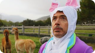 Robert Downey Jr. Hops Around a Farm in a Bunny Suit // Omaze