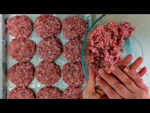 Black Pepper Pork Burgers    Freezer Recipe