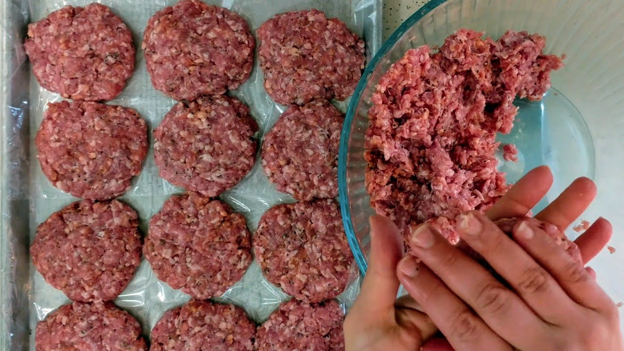 Black Pepper Pork Burgers Freezer Recipe Youtube