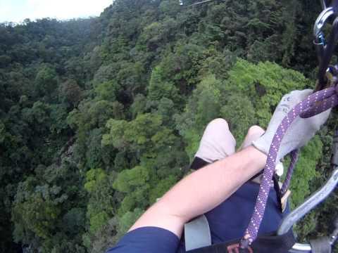 Arenal Mundo Aventura Zip Line #7 over La Fortuna Waterfall GoPro