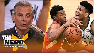 Colin Cowherd declares the NBA's best player & what Giannis' struggles reveal | NBA | THE HERD thumbnail