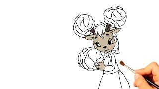 Рисуем козу из мультфильма Мешок яблок