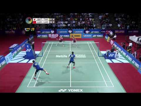 F - 2015 India Open Super Series - Misaki Matsutomo/Ayaka Takahashi  vs Luo Ying/Luo Yu