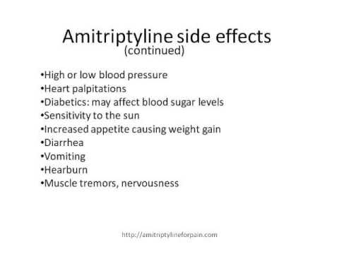 Amitriptyline Use and Side Effects