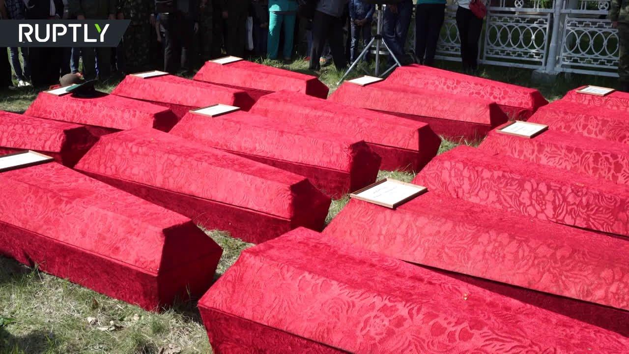 В Курске перезахоронили останки советских солдат