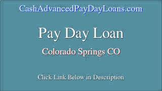 Secure Payday Loan For Colorado Springs Co (up To $1000)