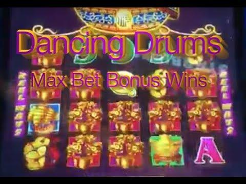Dancing Drums Max Bet Slot Machine Wins A Few Big Ones