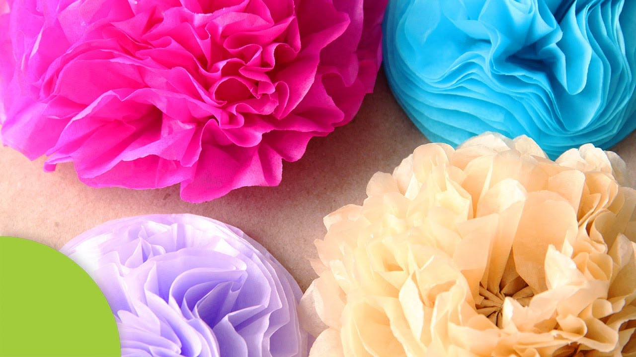 Como Hacer Flores Decorativas De Papel Youtube