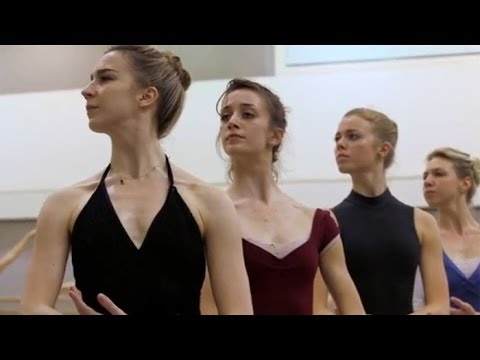 The corps de ballet rehearse Giselle (The Royal Ballet)
