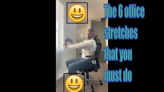 Office stretching routine | office yoga | physical therapy, physiotherapy, neck pain desk stretches