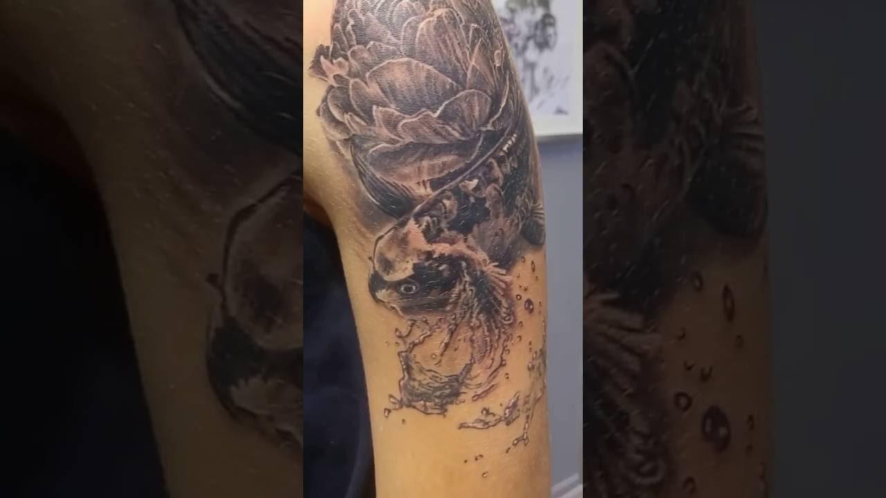 tatouage carpe koi par stephane bueno studio black corner tattoo youtube. Black Bedroom Furniture Sets. Home Design Ideas