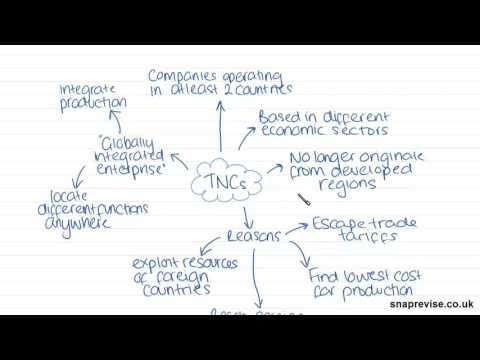 Transnational Corporations (Part 1) | A-level Geography | AQA, OCR, Edexcel